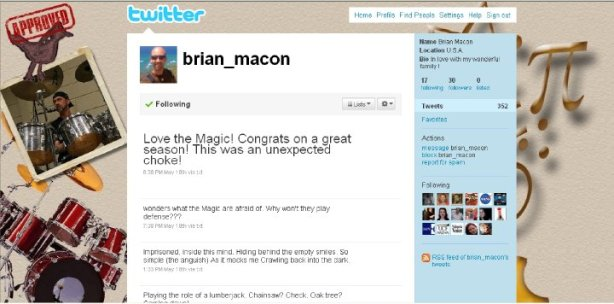 Brian Macon Custom Twitter Page