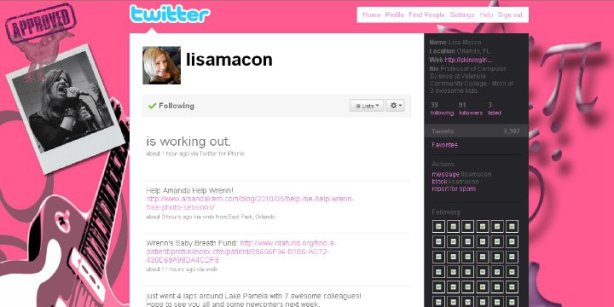 Lisa Macon's Custom Twitter Page