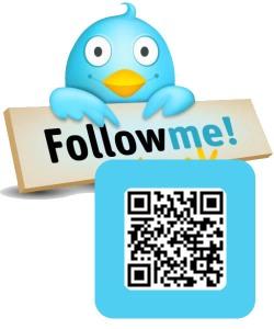 QR Code Follow Me Twitter