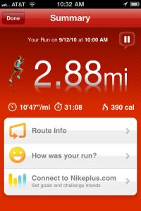Summary of Run