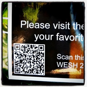 Close up of QR Code at the Zoo