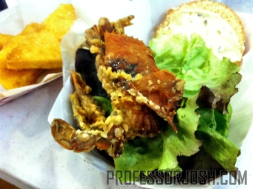 Big Wheel Truck Soft Shell Crab Sandwich