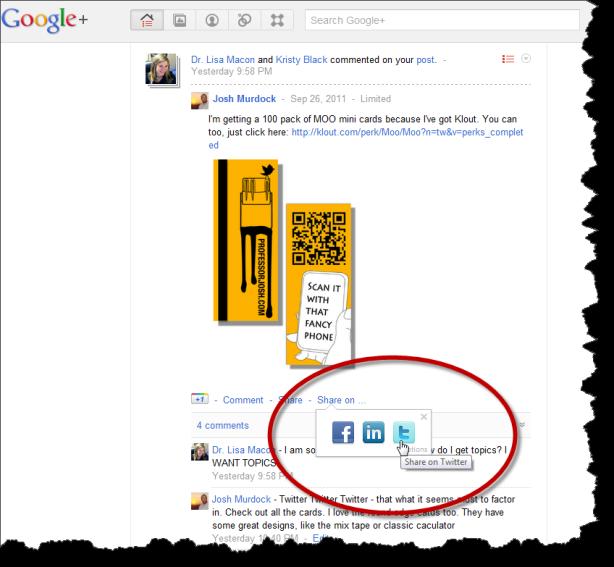 Google+ Extended Share