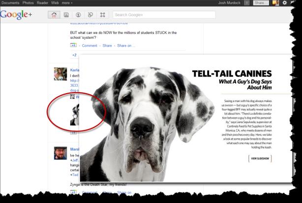 Google+ Photo Zoom