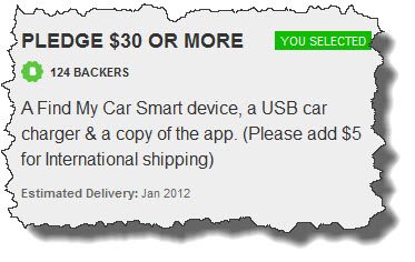 received my first kickstarter find my car smarter review. Black Bedroom Furniture Sets. Home Design Ideas