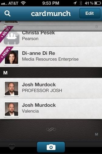 CardMunch LinkedIn Professor Josh Contact