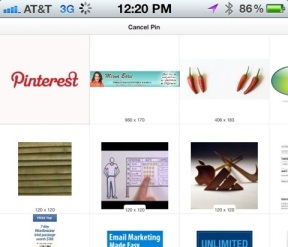 Pin It from your Iphone using Pinterest