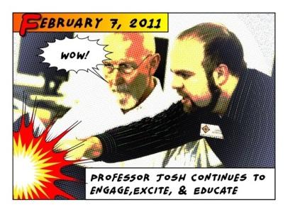 Professor Josh Halftone Engage Excite Educate