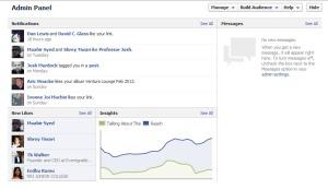 Facebook Timeline Pages Admin Panel Update