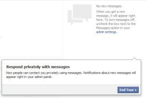 Facebook Timeline Pages Messages Update
