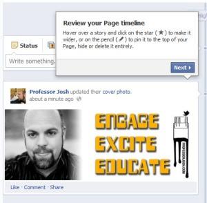 Facebook Timeline Pages Spotlight Update