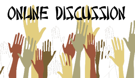 Online Discussion Hand Raised