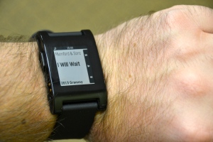 Pebble Watch Music Control